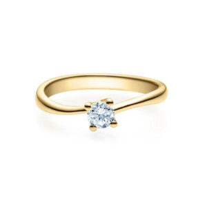 Verlobungsring Gelbgold 585/- zus. 0,200 ct, tw, si - RU-1500-5