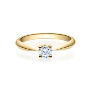 Verlobungsring Gelbgold 585/- zus. 0,200 ct, tw, si - RU-1502-5