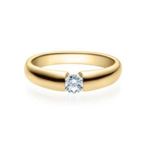 Verlobungsring Gelbgold 585/- zus. 0,200 ct, tw, si - RU-1505-5