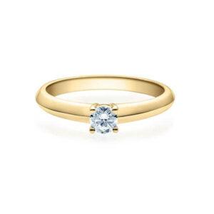 Verlobungsring Gelbgold 585/- zus. 0,200 ct, tw, si - RU-1507-5