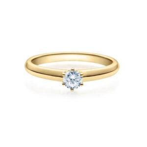 Verlobungsring Gelbgold 585/- zus. 0,200 ct, tw, si - RU-1508-5