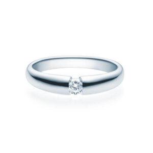 Verlobungsring Weißgold 585/- zus. 0,100 ct, tw, si - RU-1505-4