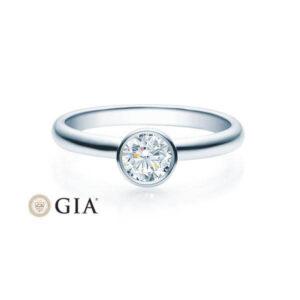 Verlobungsring Weißgold 585/- zus. 0,400 ct, tw, si - RU-1493-36